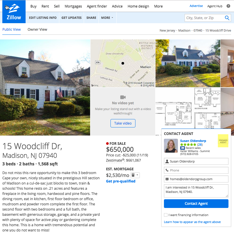 Zillow Real Estate Nj: The Oldendorp Group Realtors